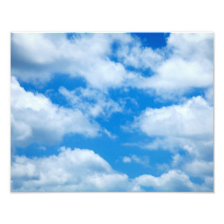 Blue Sky White Clouds Heavenly Skies Background Photo Print