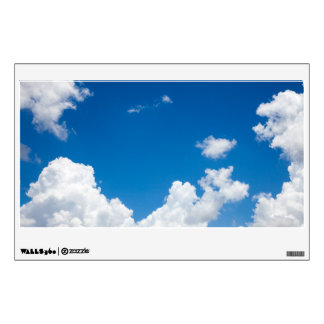 Blue Sky White Clouds Heavenly Skies Background Wall Decal