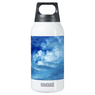 Blue Sky White Clouds Insulated Water Bottle