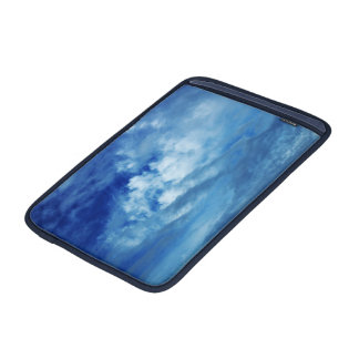 Blue Sky White Clouds MacBook Sleeve
