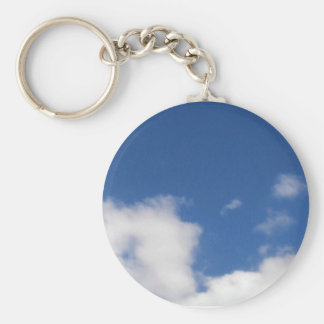 Blue Sky & White Clouds Keychains
