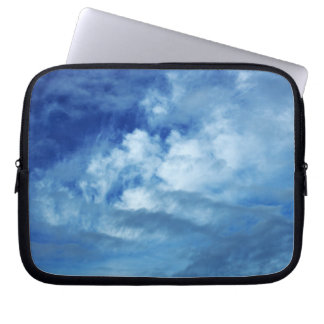 Blue Sky White Clouds Laptop Computer Sleeve