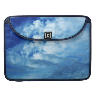 Blue Sky White Clouds Sleeves For MacBook Pro