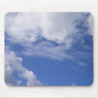 Blue Sky, White Clouds Mouse Pad