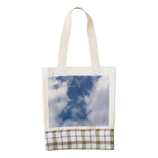 Blue Sky & White Clouds on a Spring Day Zazzle HEART Tote Bag