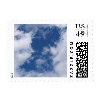 Blue Sky & White Clouds Postage