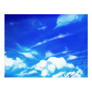 Blue Sky White Clouds Postcard