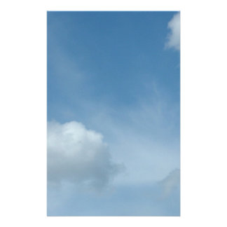 blue sky, white clouds customized stationery