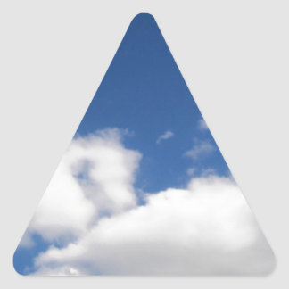 Blue Sky & White Clouds Triangle Sticker