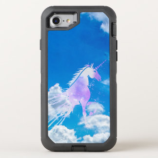 Blue sky white dream clouds magical pink unicorn OtterBox defender iPhone 7 case