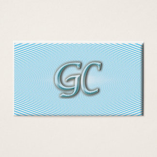 Blue sky & white Optic illusion of stripes Business Card