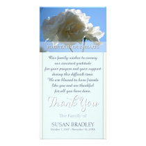 Blue Sky White Roses Sympathy Thank You Card