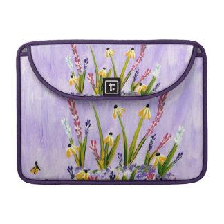 Blue Sky Wildflowers Sleeves For MacBook Pro