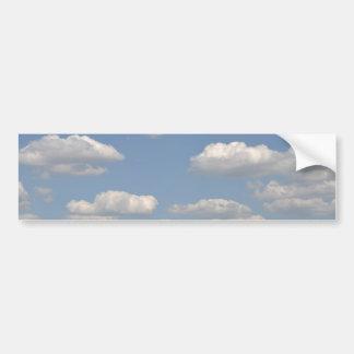 Blue sky with clouds bumper sticker