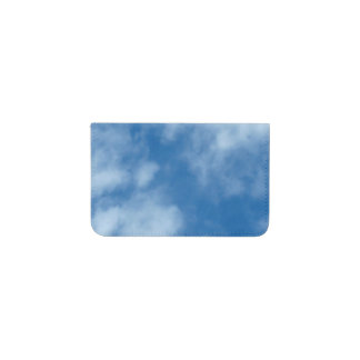 Blue Sky with Clouds Business Card Holder