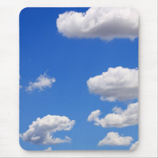 Blue sky with clouds for background mouse pad