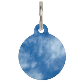 Blue Sky with Clouds Pet ID Tag