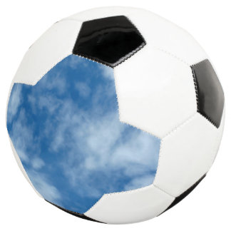 Blue Sky with Clouds Photo on Soccer Ball