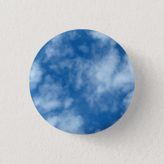 Blue Sky with Clouds Photo Pinback Button
