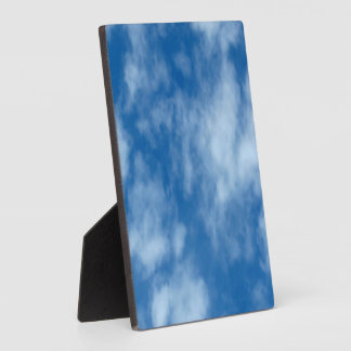 Blue Sky with Clouds Photo Plaque