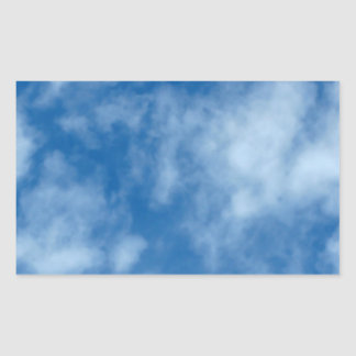 Blue Sky with Clouds Photo Rectangular Sticker