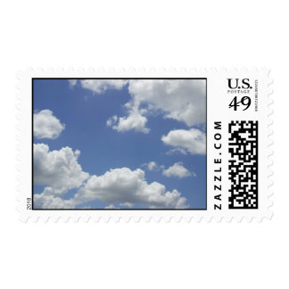 Blue Sky with Clouds Postage Stamp