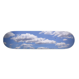 Blue sky with clouds skateboard deck