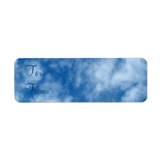 Blue Sky with Clouds To-From Gift Tag Label