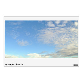 Blue Sky With Clouds Wall Sticker