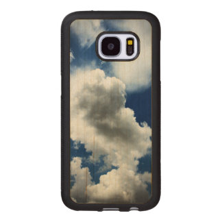 Blue Sky with Clouds Wood Samsung Galaxy S7 Case