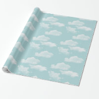 Blue sky with clouds wrapping paper