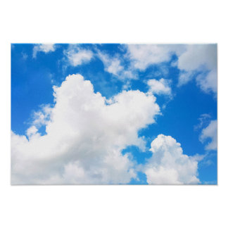 Blue Sky with Few Clouds Photo Poster