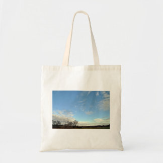 Blue Sky With Partial White Clouds Tote Bag