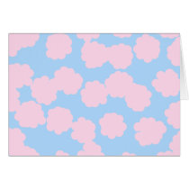 Blue Sky with Pink Clouds Pattern.
