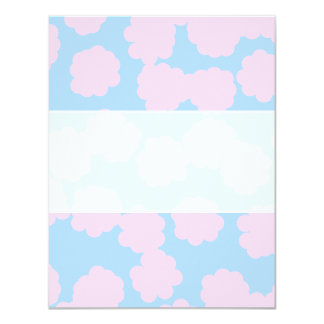 Blue Sky with Pink Clouds Pattern. Card