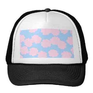 Blue Sky with Pink Clouds Pattern. Hat