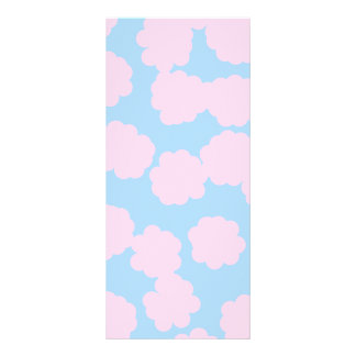 Blue Sky with Pink Clouds Pattern. Rack Card Template