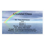 Blue Sky With Rainbow Double-Sided Standard Business Cards (Pack Of 100)