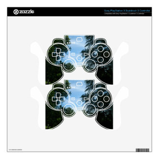 Blue sky with trees image decal for PS3 controller