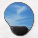 Blue Sky with White Clouds Abstract Nature Photo Gel Mouse Pad