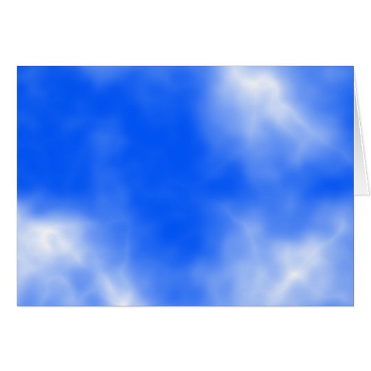 Blue sky with white clouds. card