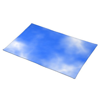 Blue sky with white clouds. cloth placemat