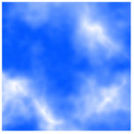 Blue sky with white clouds. cut out
