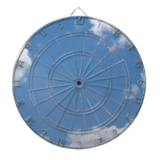 Blue Sky with White Clouds Dart Board