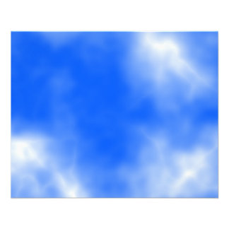 Blue sky with white clouds. flyer