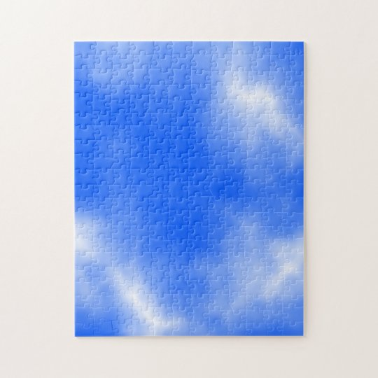 Blue sky with white clouds. jigsaw puzzle