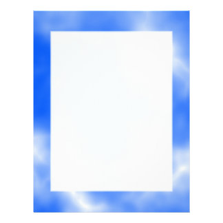 Blue sky with white clouds. letterhead