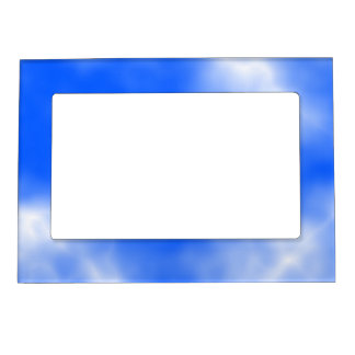 Blue sky with white clouds. magnetic frames