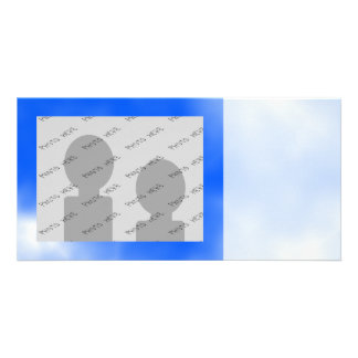 Blue sky with white clouds. photo card