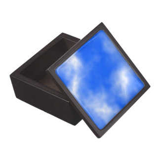 Blue sky with white clouds. premium keepsake boxes